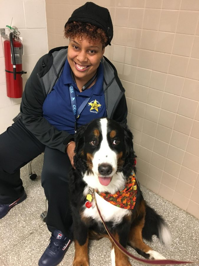 security officer, Chevon Matthews with Tango