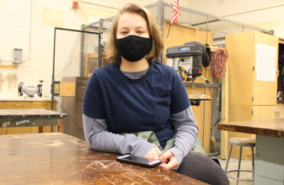 Mattison sits in the technical drawing class and is preparing to start a new project.
