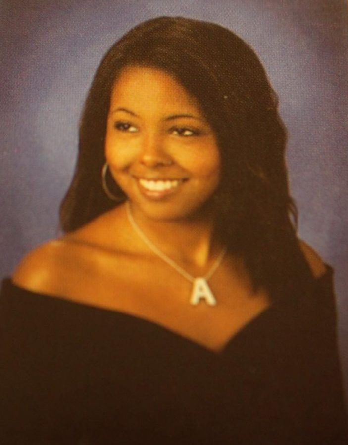 A picture from Adrienne Warren's senior year at Western Branch High School.